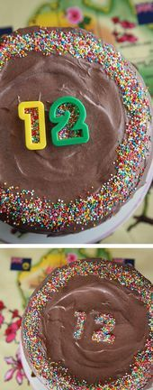 Photo of Clever – Use cookie cutters with sprinkles to create a message or write a number… – Apfel K…
