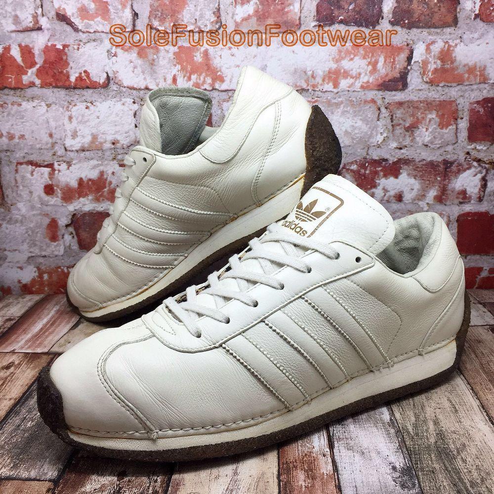 817fe8541 adidas Mens Country LX Trainers White size 10 VTG Sneakers US 10.5 EU 44  2/3 LTD | eBay