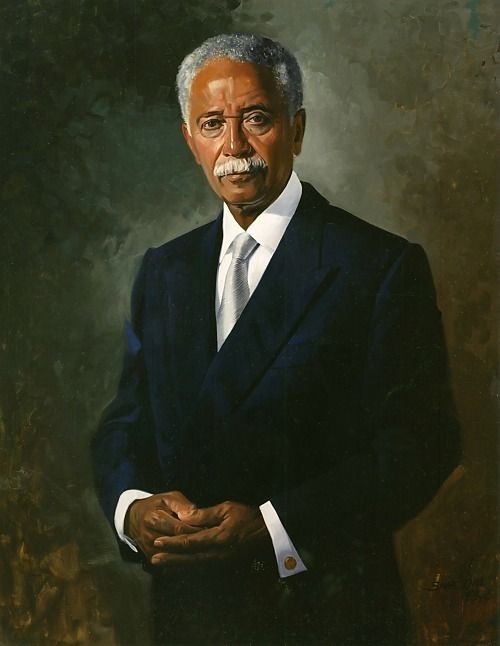 a simmie knox portrait of former nyc mayor david dinkins in 2020 african history black history american history pinterest