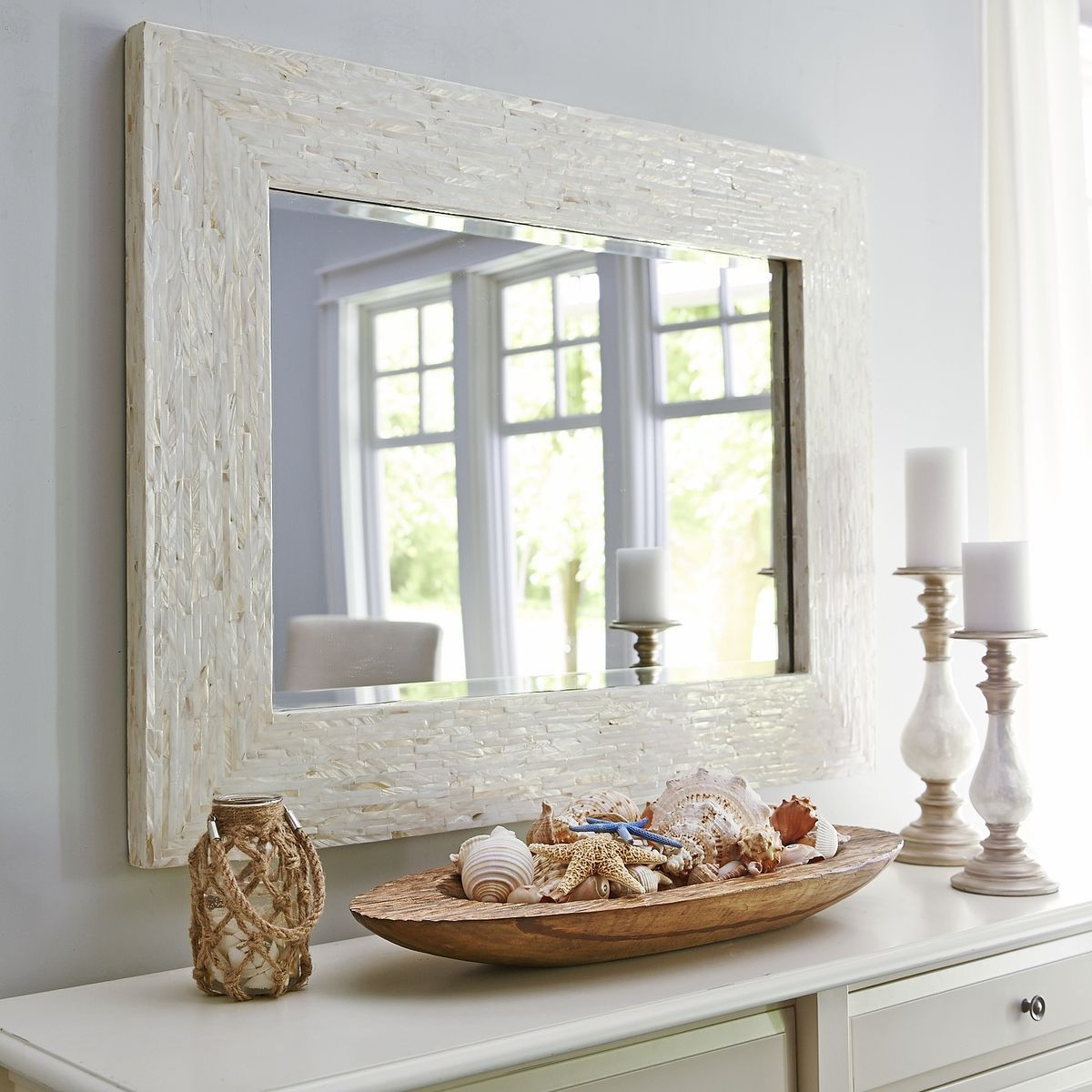 Ivory Mother Of Pearl Mirror In 2019 For The Home Pinterest