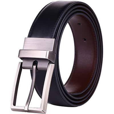 Men/'s Reversible Leather Waist Strap Fashion Dress Buckle Beltox Wear Design