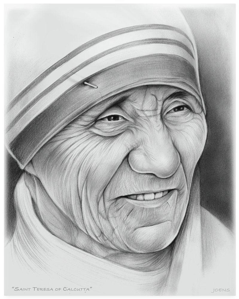 Mother Teresa Pencil Art