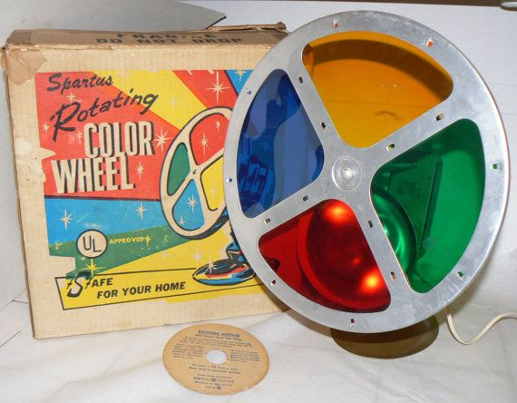 1950s Spartus Rotating Color Wheel 4 Aluminum Christmas Tree In Box