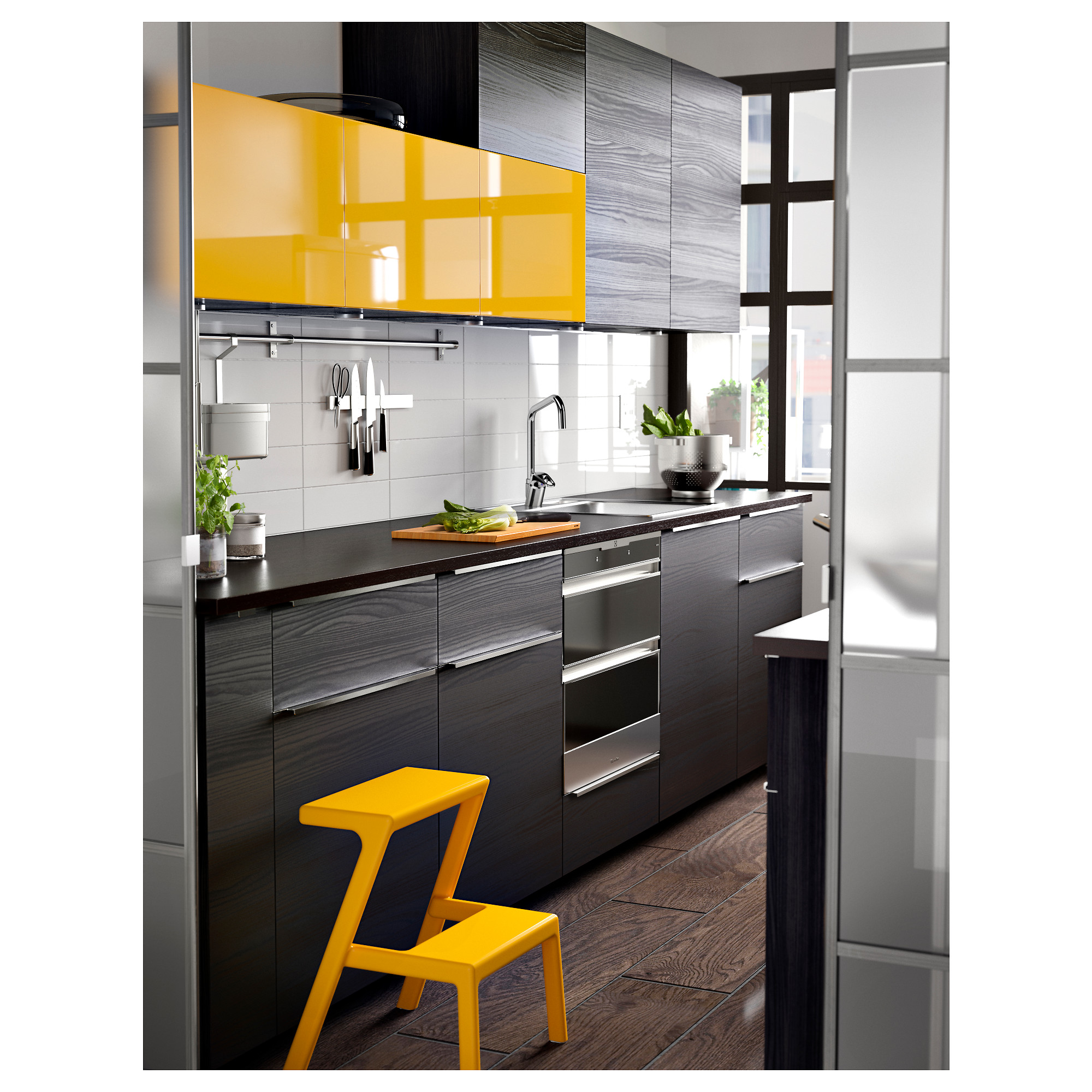 Cucina Ikea Tingsryd Jarsta Tingsryd 2 P Door F Corner Base Cabinet Set Wood Effect Black
