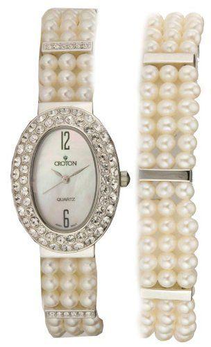 Ladies Cultured Pearl Watch Croton. $400.00