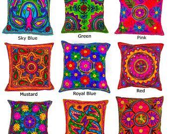 Decorative Pillow Cover Hand Embroidered Uzbekista