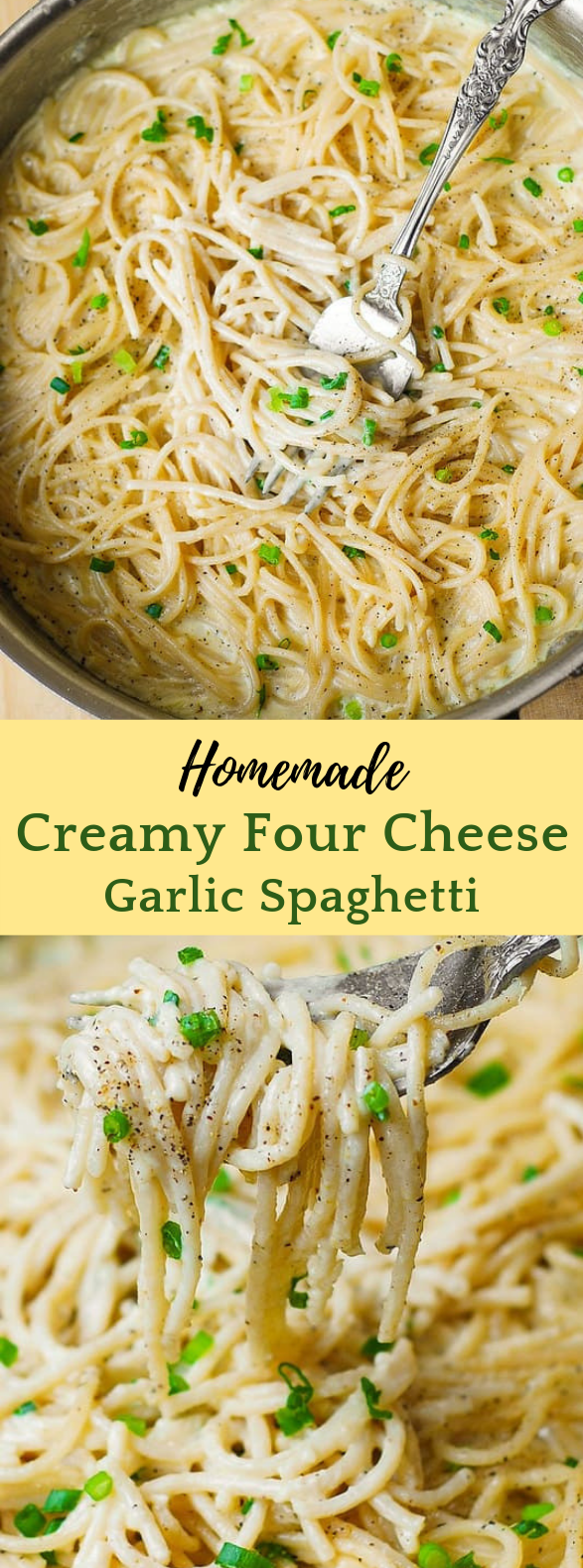 FOUR CHEESE GARLIC WHITE CREAM PASTA SAUCE #Dinner #Pasta images