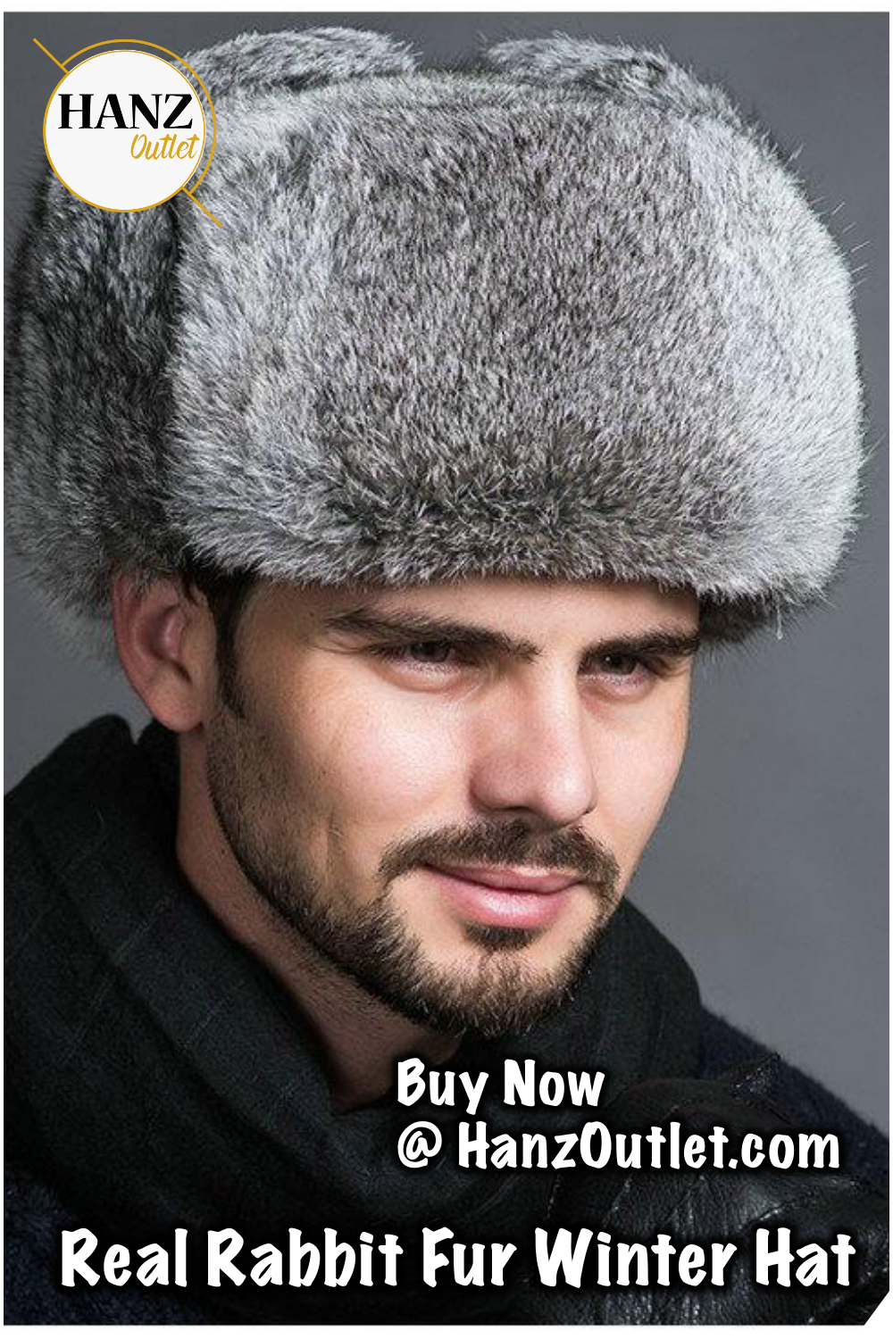 a0b3d41c9bf High Quality Mens 100% Real Rabbit Fur Winter Hats Lei Feng hat With Ear  Flaps Warm Snow Caps Russian Hat Bomber Cap  MensHat  RealRabbitHats   EarFlaps ...