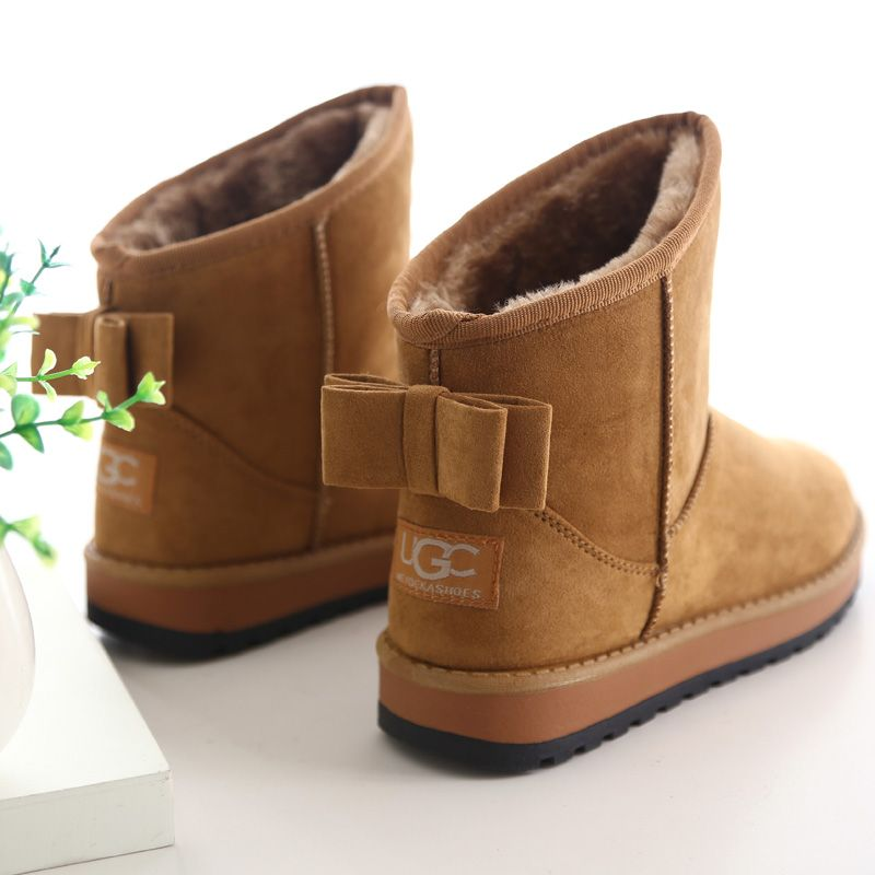 Women boots fashion plush winter ankle boots women shoes solid ...