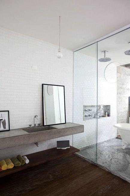 Bancada de concreto Salle de bains Pinterest Concrete