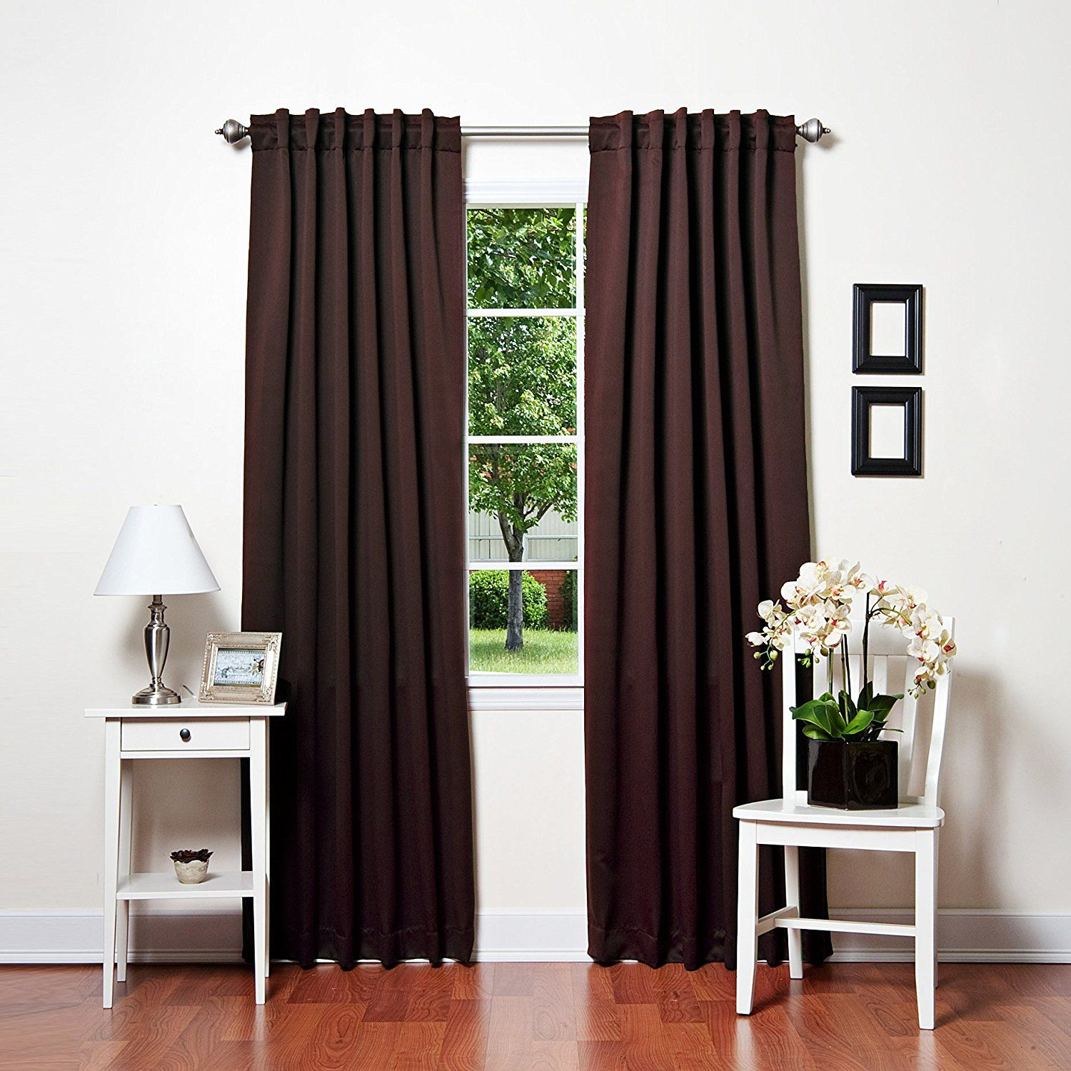 Best Home Fashion Basic Thermal Insulated Blackout Curtains   Back Tab/ Rod  Pocket   Dark
