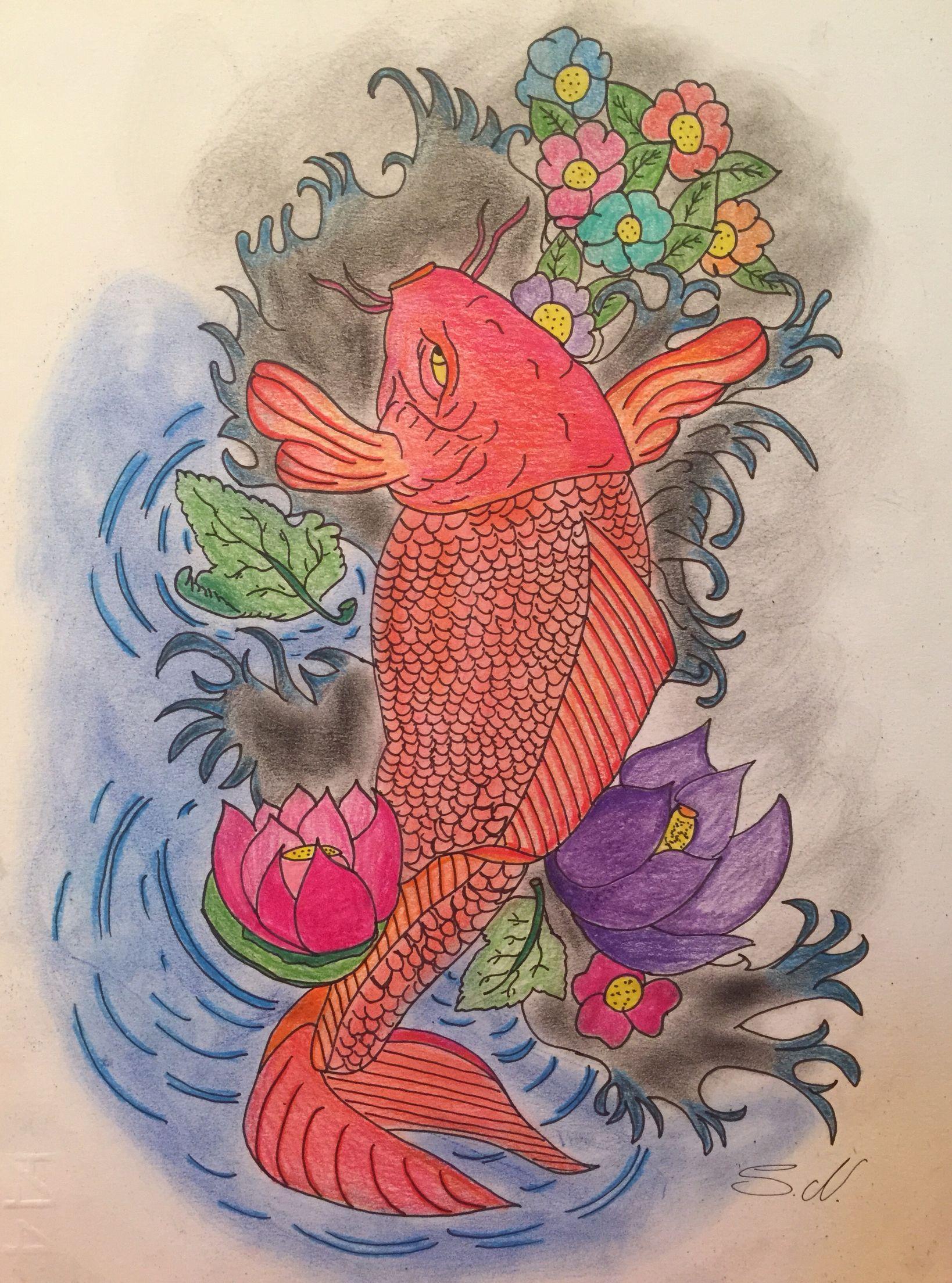 Carpa koi | tattoo | Pinterest | Tattoo