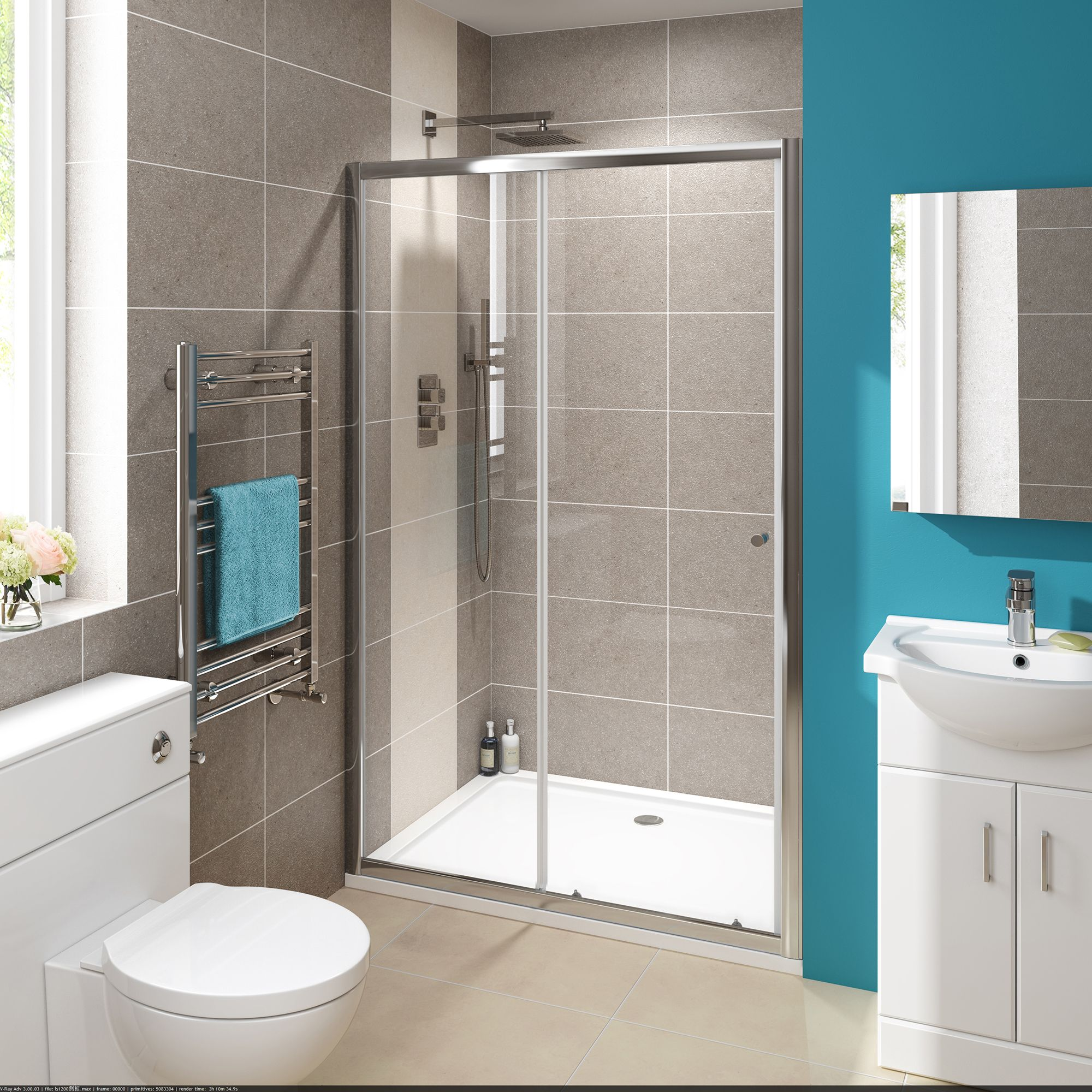 Sliding Shower Doors Installation Bathroom