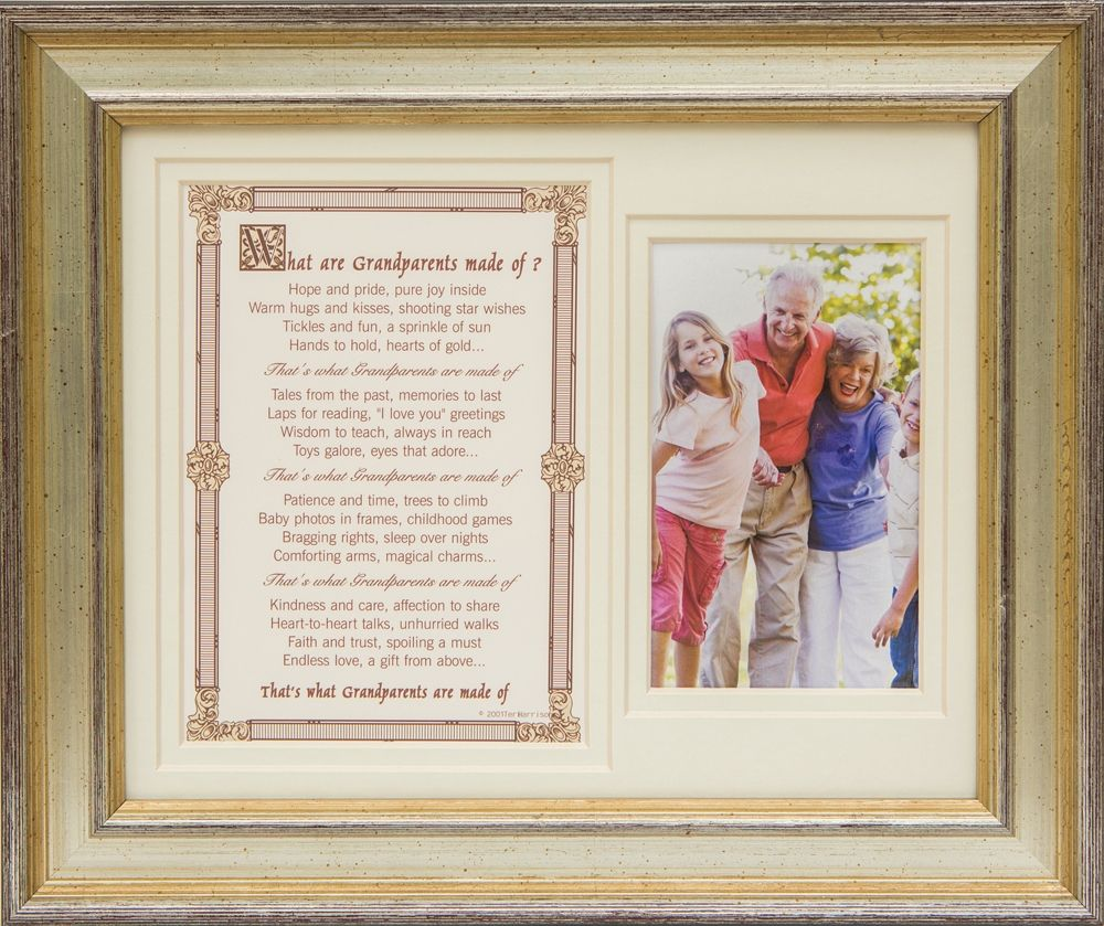 Grandparents Frame: What Grandparents are Made of 8x10 | Nona\'s ...