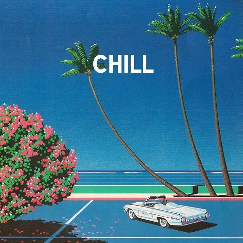Miami Vice City Art Vaporwave Illustration