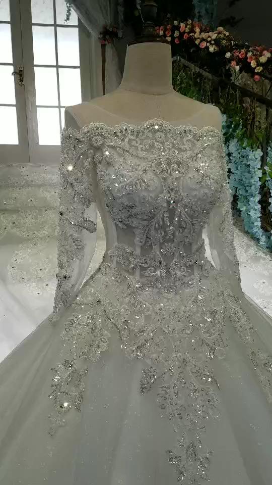 2019 neckline wedding dresses wonderful tie with real diamond train