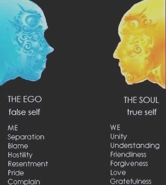 Image result for ego vs true self | Ego vs soul, Letting go of ego, Ego