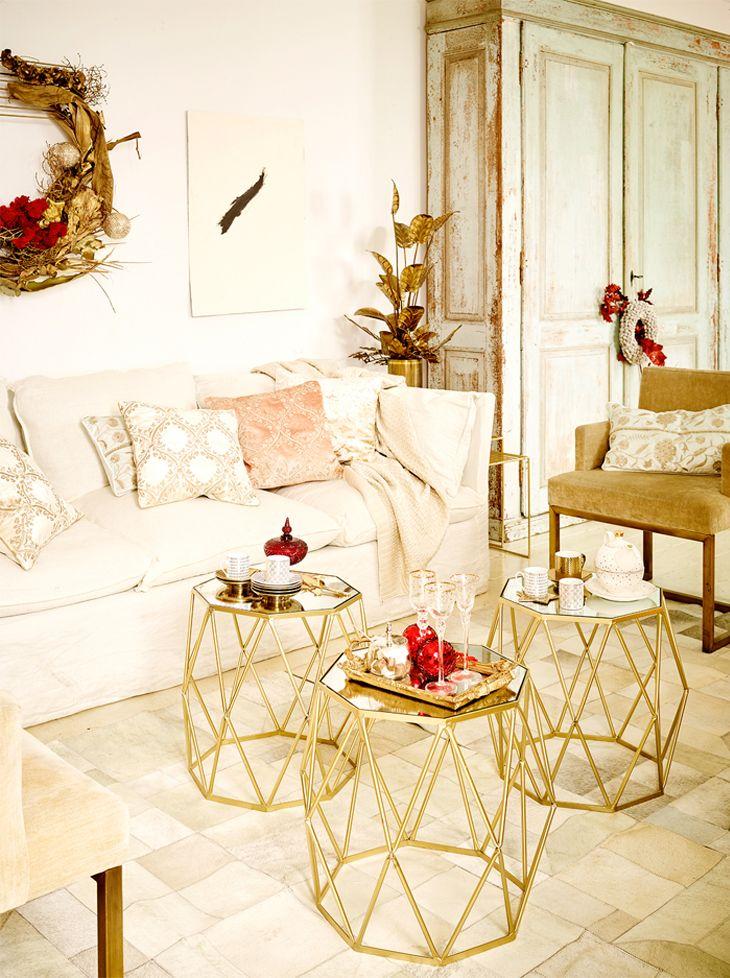 White gold natal zara home portugal decora o de - White and gold room decor ...