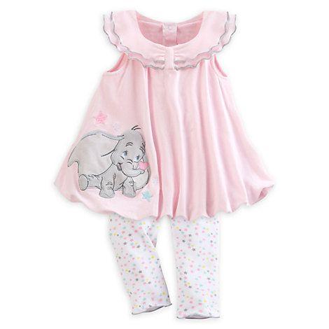 111687d3652e Dumbo Babyausstattung - Set mit Strickkleid und Leggings für Babys ...