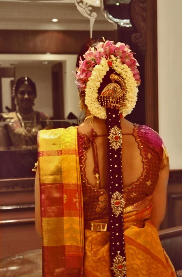 Gorgeous South Indian Wedding Bridal Hairstyles 19