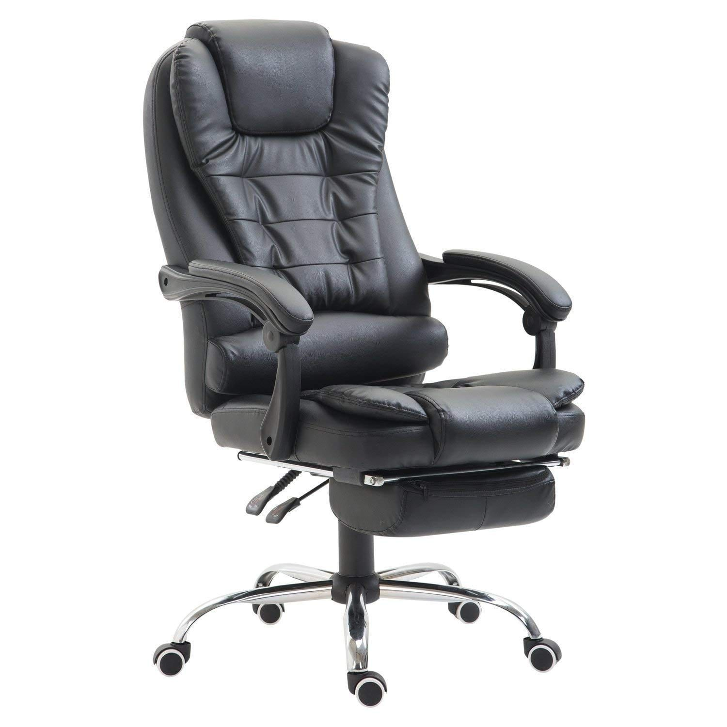 Homcom High Back Reclining Pu Leather Executive Home Office Chair