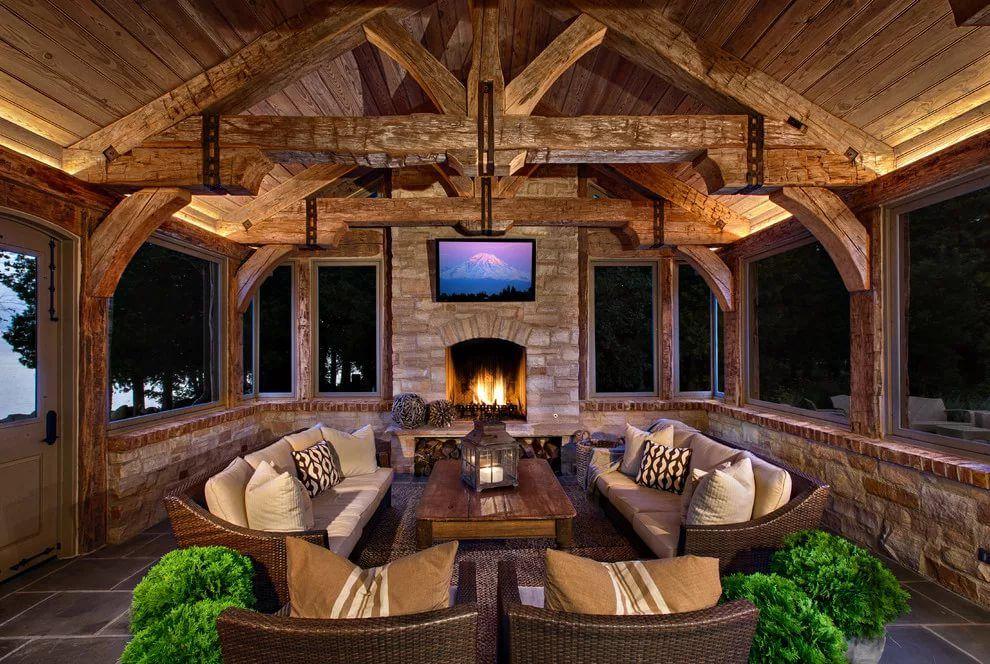 Картинки деревянные дома своими руками