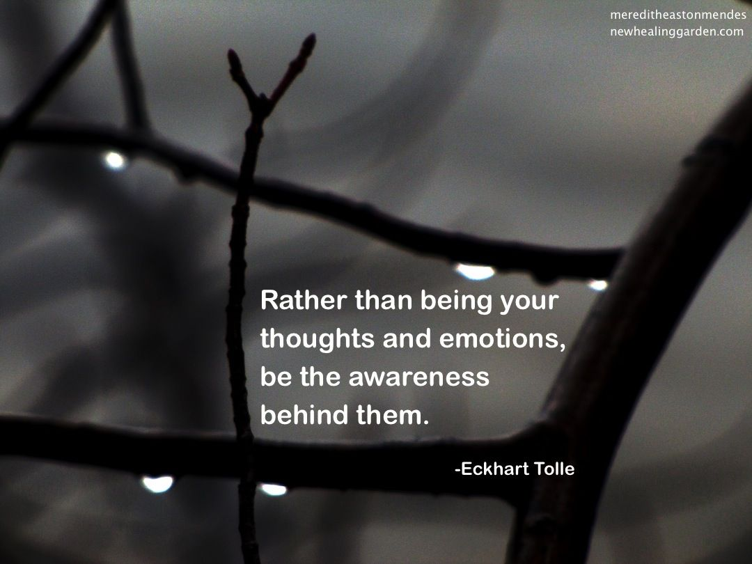 Rather than being your thoughts and emotions, be the awareness behind them - Eckart Tolle