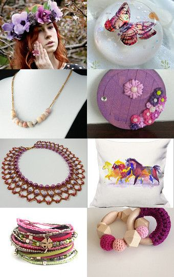 Pink August by @branchbeads  by Sarah Robertshaw on Etsy--Pinned with…
