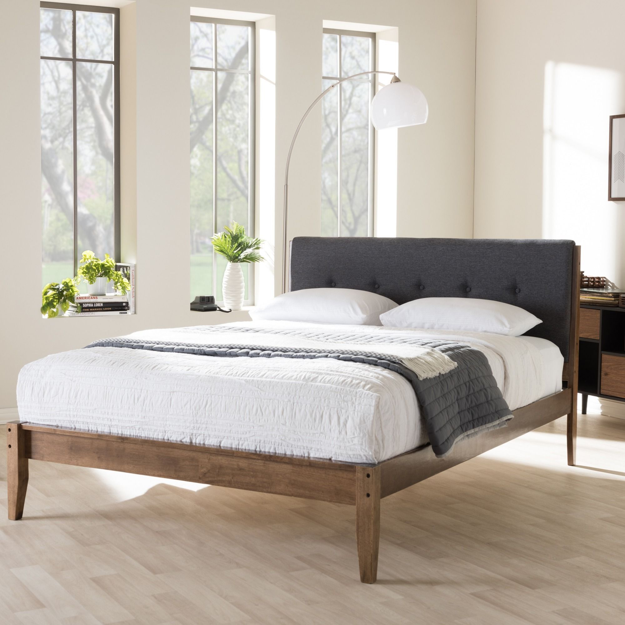 Inspired By Mid Century Modern Scandinavian Design The Kyros Upholstered Platform Bed Provide Additional Option For Your Bedroom Setting