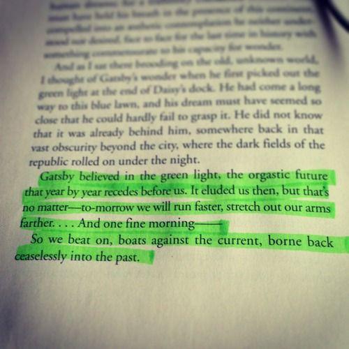 Essay great gatsby green light