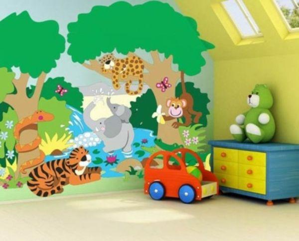 Lustige dschungel dekoration im kinderzimmer 15 sch ne beispiele kinderzimmer pinterest - Dekoration dschungel ...