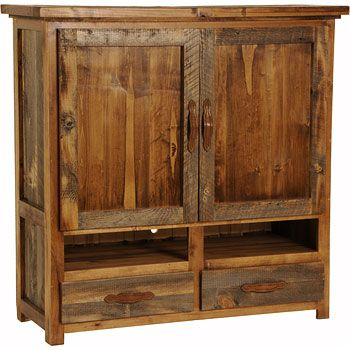 Ordinaire Rustic Wyoming Flat Screen TV Armoire