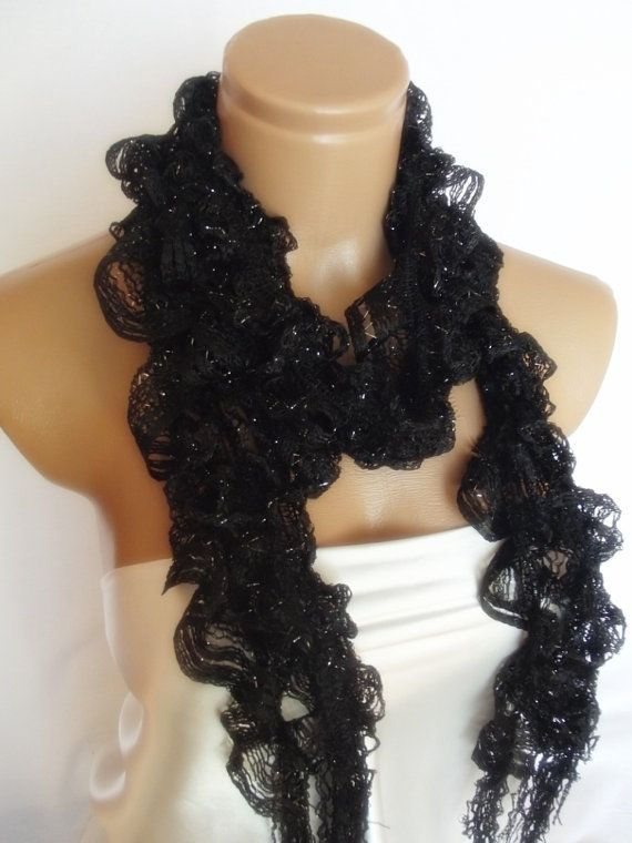 2012 summer fashion scarf new design black by smilingpoet on Etsy, $12.90