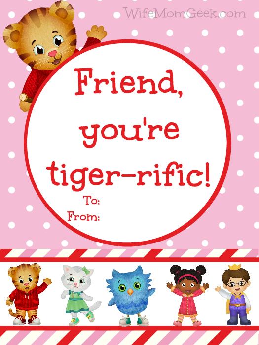 Daniel Tiger Valentines   Free Printables