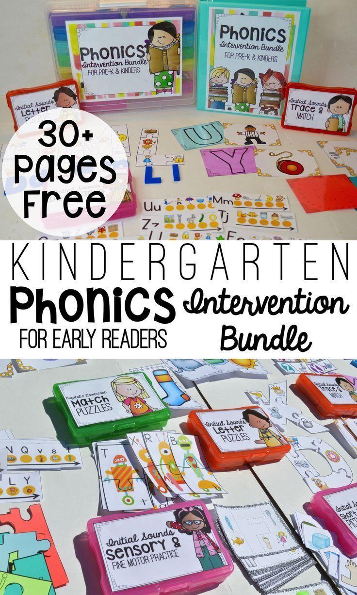 Kindergarten Phonics Intervention Free Download Classroom