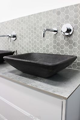 Stone Grey Charcoal Black Marble Rectangle Bowl Counter Top Basin Vanity Matte Ebay Kitchen Countertops Laminate Kitchen Cabinet Organization Layout Diy Countertops