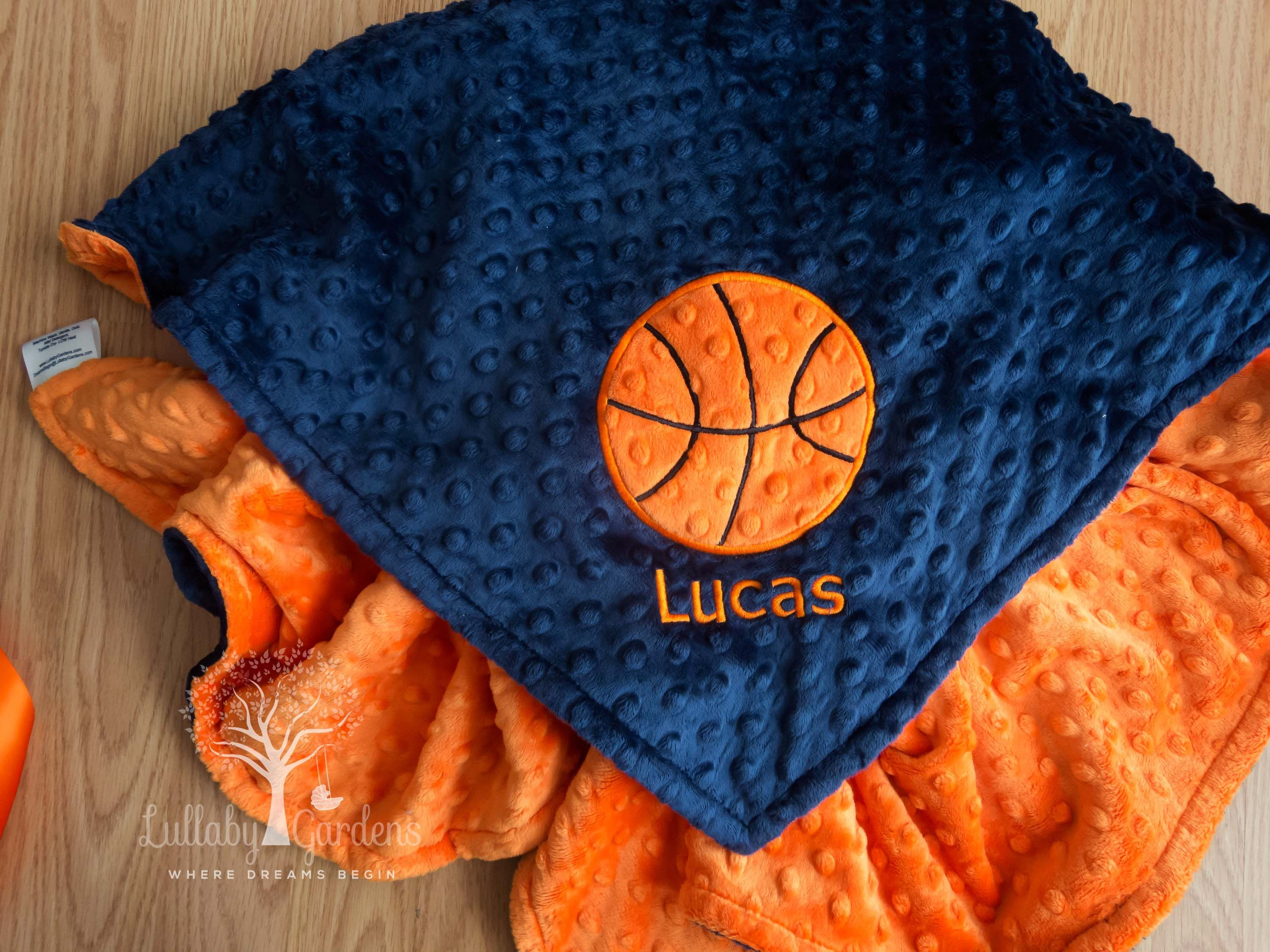 Basketball personalized minky baby blanket gender neutral baby basketball personalized minky baby blanket gender neutral baby blanket personalized baby gifts appliqued negle Choice Image