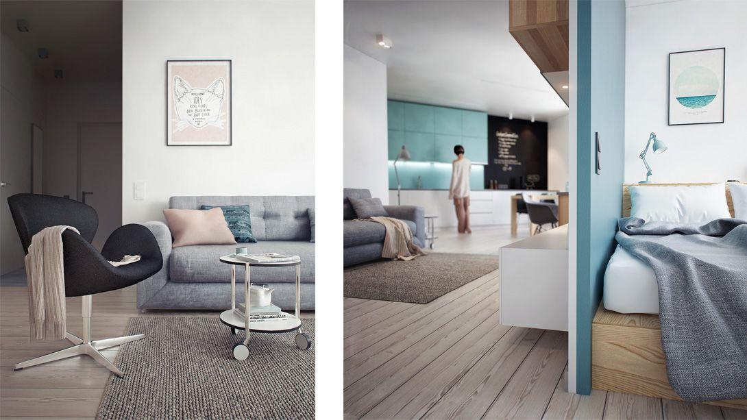Amenagement D Un Appartement De 60m2 Petit Appartement