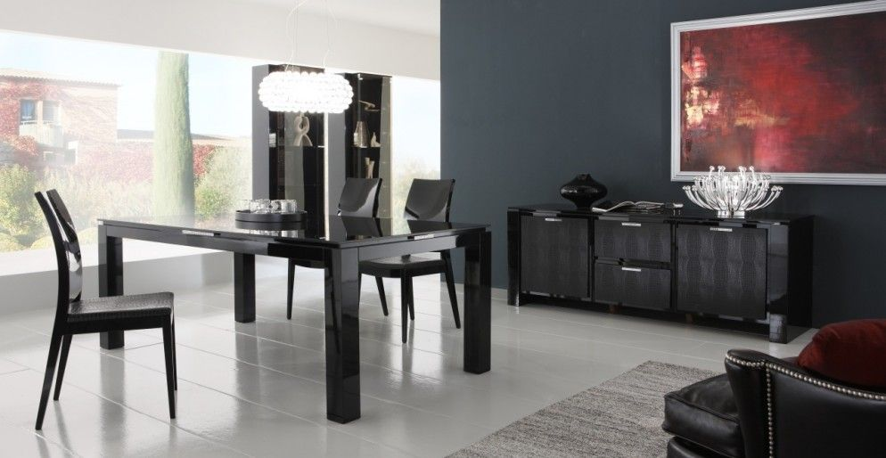 Rossetto Sedie ~ Best materials of black lacquer dining room chairs : contemporary