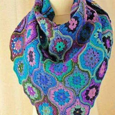 Patrón #1705: Bufanda de Carpetitas a Crochet | Mantas | Pinterest ...