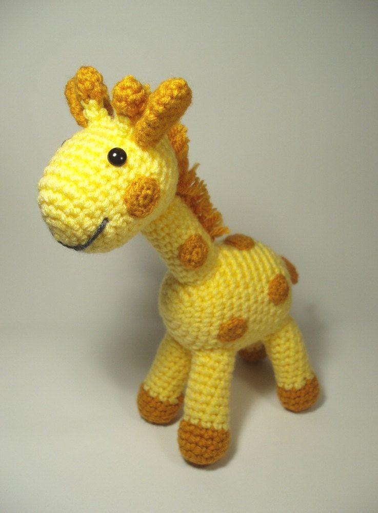 Crocheted Giraffe Stuffed Animal Toy. | 1. Crochet ~ Amigurami ...