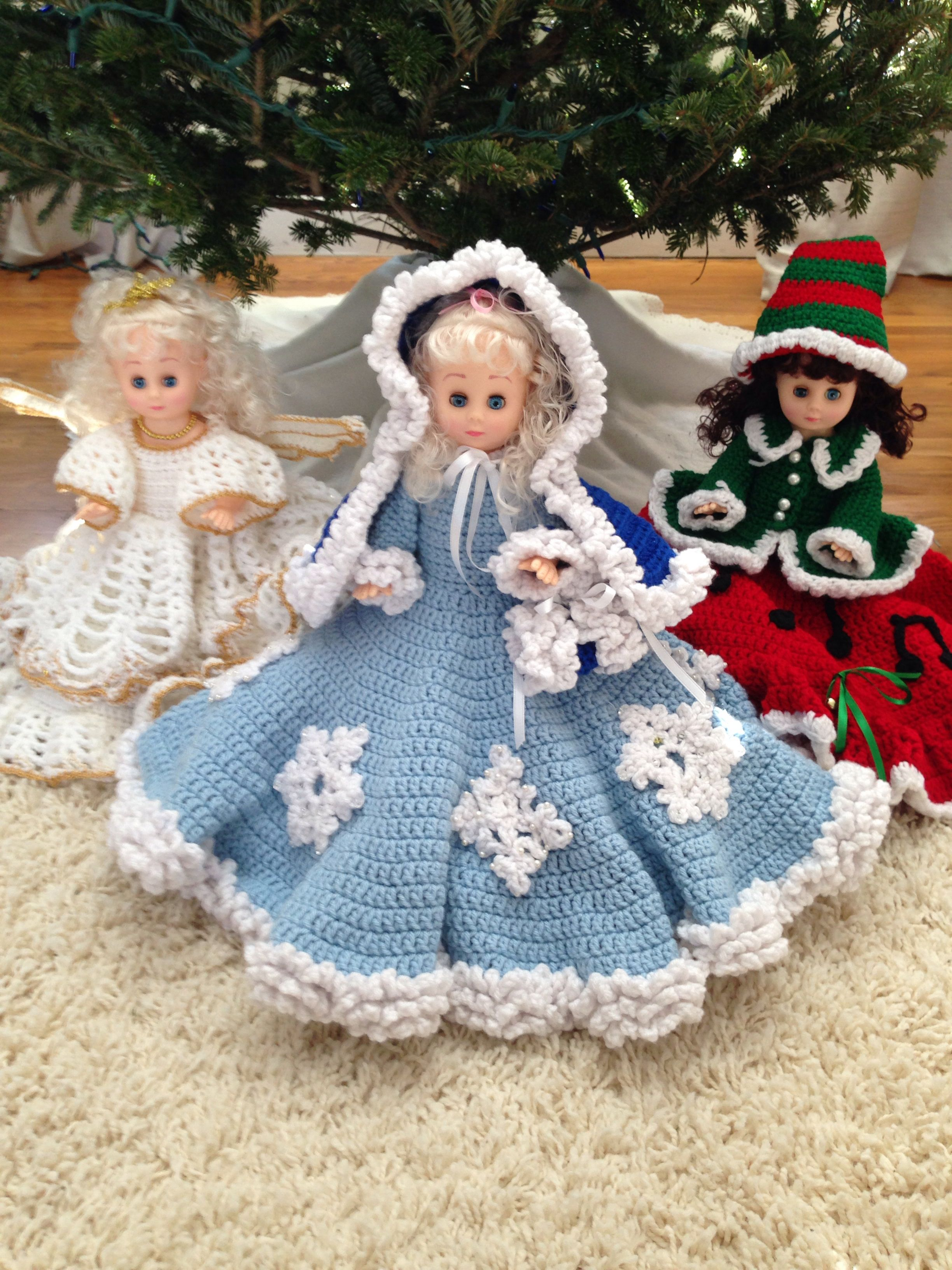 Crochet bed dolls. Patterns from the 80's I think!! #airfreshnerdolls