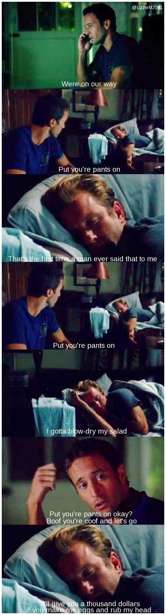 Hawaii Five-O - Steve & Danny- Is Danny talking in his sleep? Or does he actually mean that stuff?