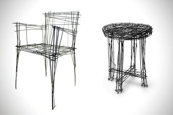 Meubles D'Art Réalisés En Fil De Fer Par Jinil Park | Upholstery And