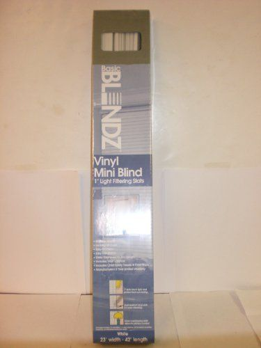 Designer S Touch 1 Inch Vinyl Mini Blinds White 30x60 I Vinyl Mini Blinds Blinds Shades Blinds
