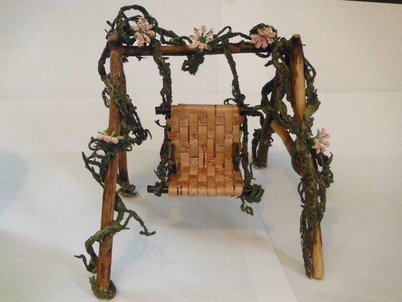 Adirondack Rustic Birch Bark Weave & Twig Fairy/Garden