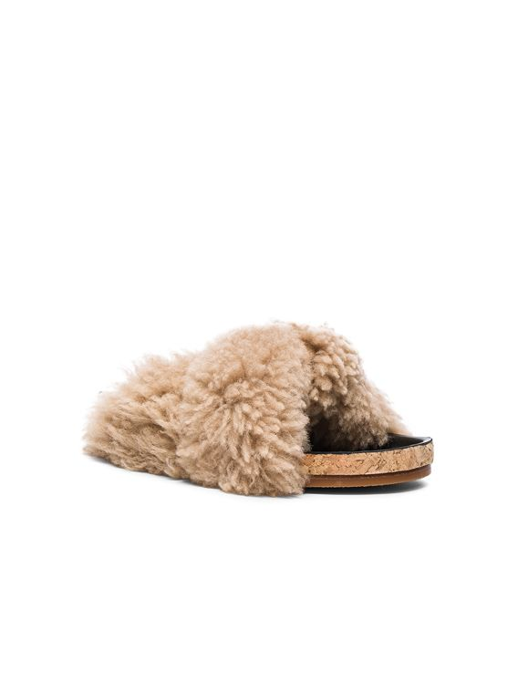 Chloe Kerean   Fur sandals, Sandals