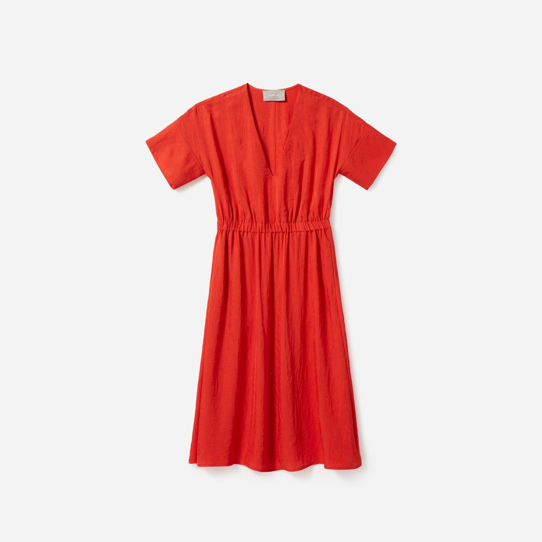 Women's Japanese GoWeave Light V-Neck Dress | Everlane | V ...