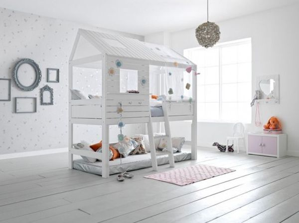 these beds are perfect for a shared kids room combined with a playroom digsdigs