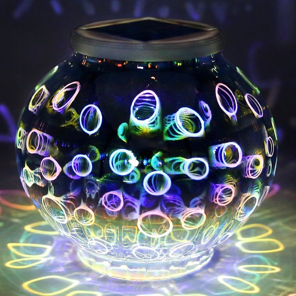 Color Changing Mosaic Solar Light, Pandawill Waterproof